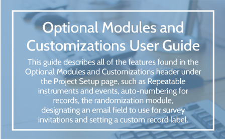 Optional Modules and Customizations User Guide