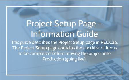 Project Set Up User Guide