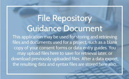 File Repository Guidance User Guide