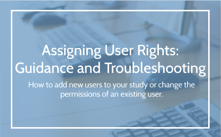 Assigning User Rights Guidance and Troubleshooting User Guide