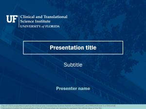 Standard PowerPoint template