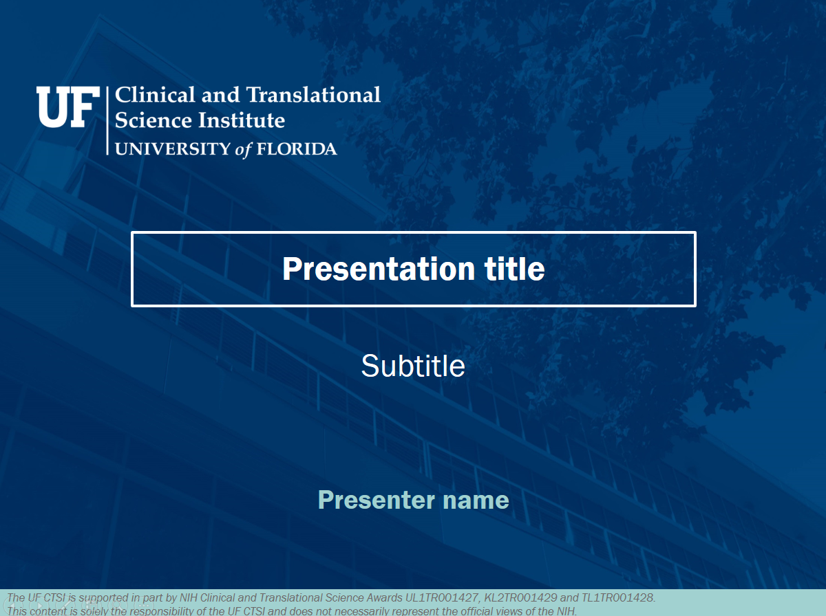Digital materials clinical and translational science institute standard powerpoint template standard dimensions toneelgroepblik Choice Image