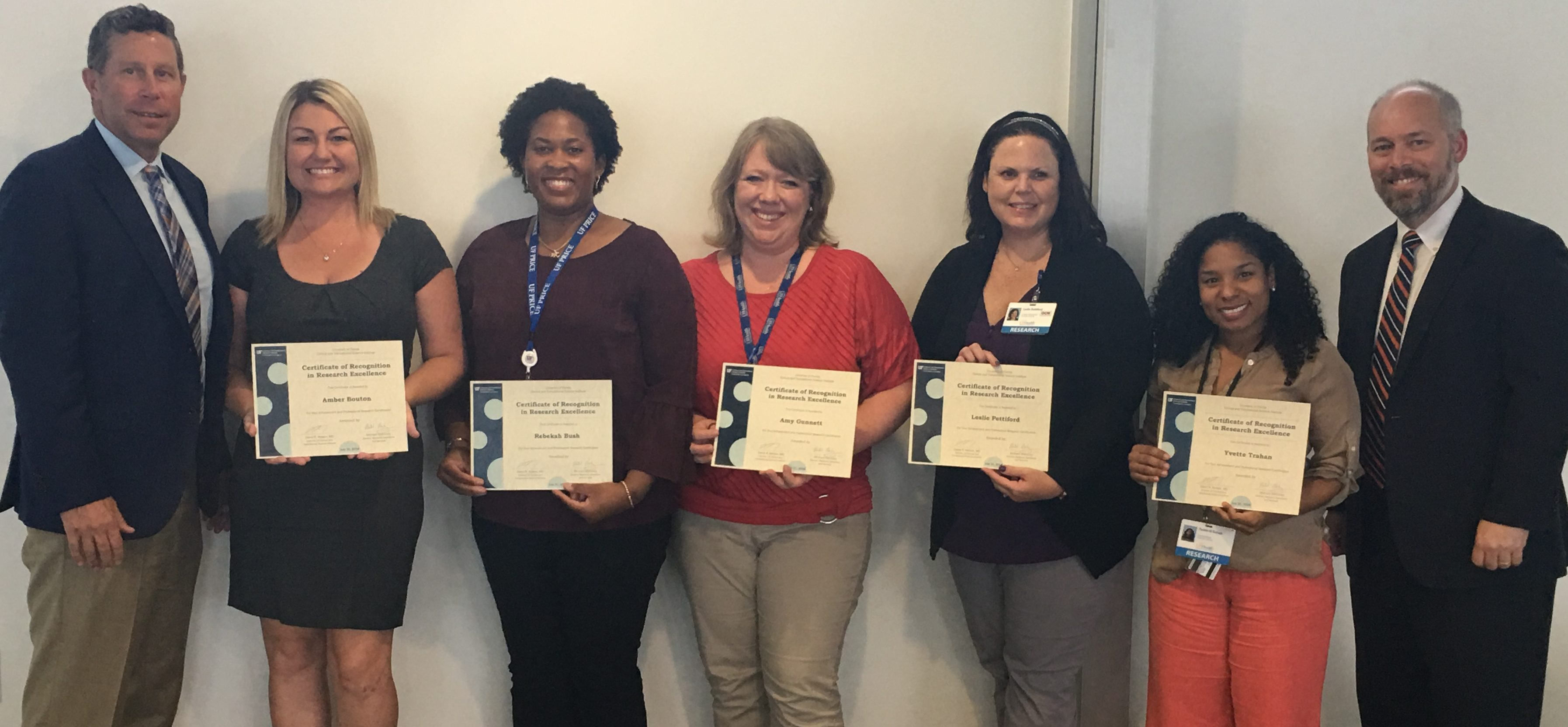Research Professionals Honored For Earning And Maintaining