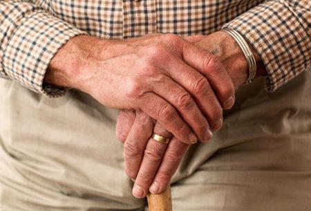older adult hands