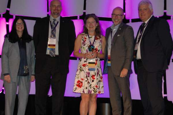 Tamara Mandell, Director of Biotility at the University of Florida's Center of Excellence for Regenerative Health Biotechnology, win BioFlorida award