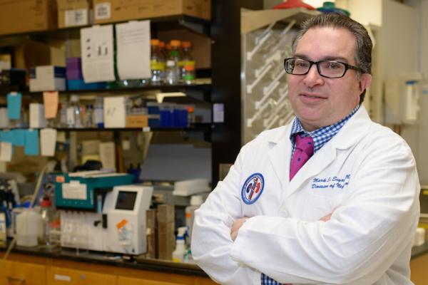 Mark Segal, MD, PhD in a laboratory