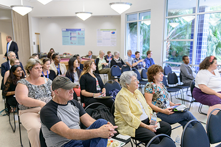 Our Community, Our Health a community-oriented event where researchers present research findings that community members are interested in. Q&A follows each presentation so community members can ask researchers about the health issues discussed in presentations.