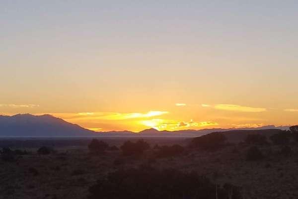 behind Del Norte, Colorado, looking out over the San Luis Valley