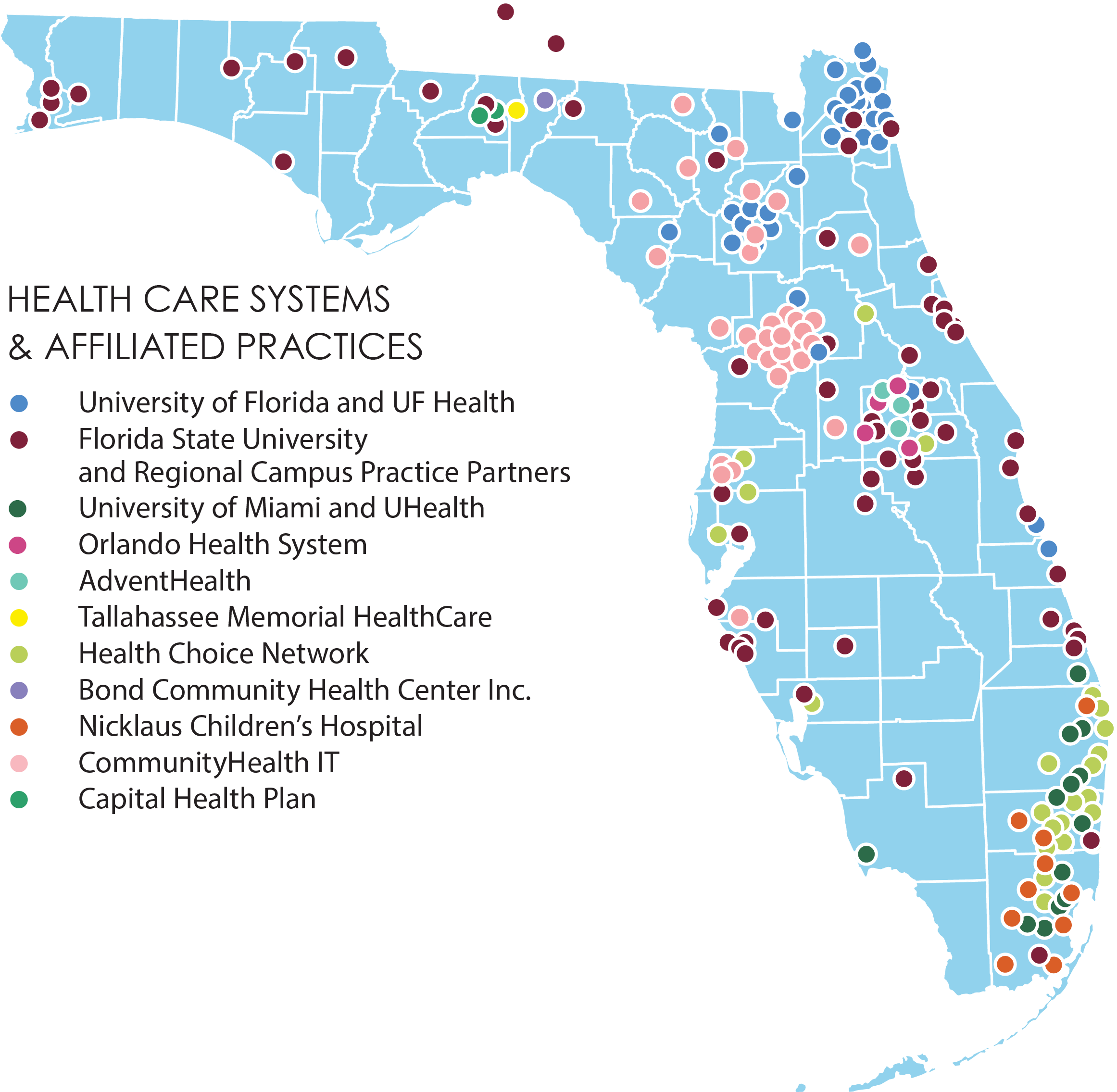 OneFlorida Partner Map
