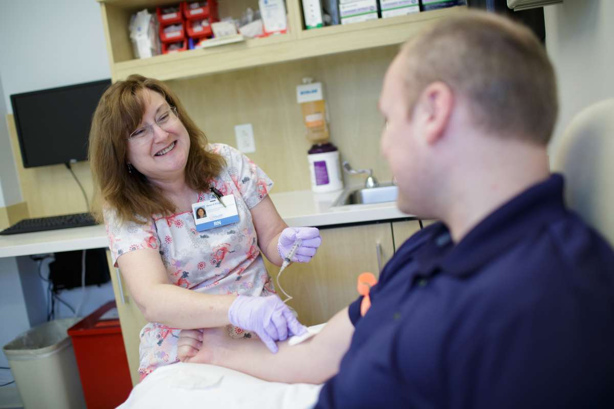 Janet King, RN, BSN, CCRC, Clinical Research Manager, at work in the CTSI Clinical Research Center.