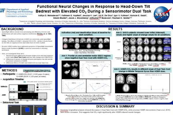 Functional Neural Changes in Response to Head-Down Tilt Bedrest with Elevated CO2 During a Sensorimotor Dual Task poster