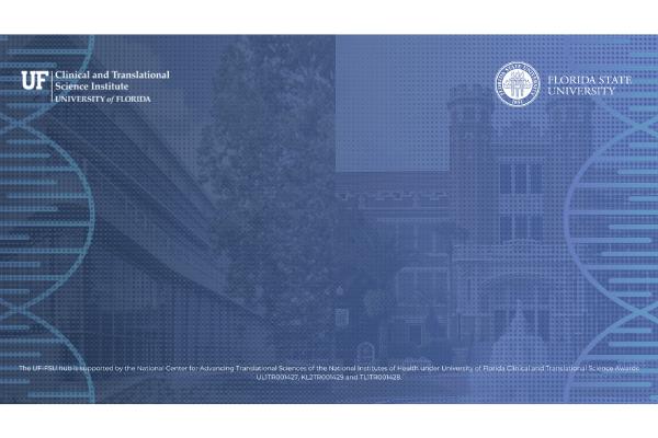UF-FSU CTSA Hub Zoom Background version 1